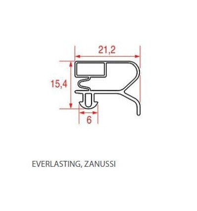 Guarnizioni per frigoriferi EVERLASTING ZANUSSI