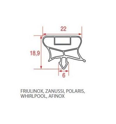 Уплотнители для холодильников ПОЛЮС WHIRPOOL AFINOX FRIULINOX