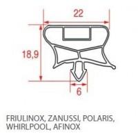 Guarnizioni per frigoriferi POLARIS WHIRPOOL AFINOX FRIULINOX