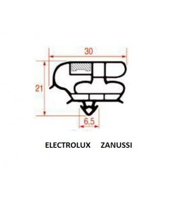 Gaskets for refrigerators electrolux zanussi