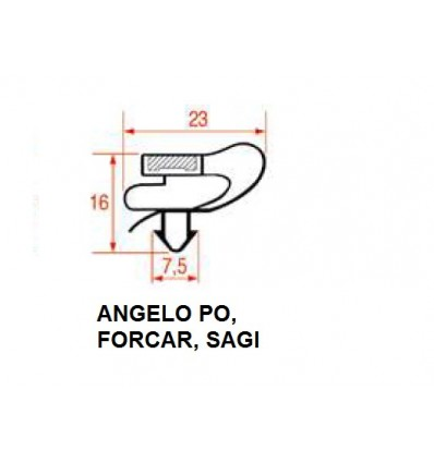 Gaskets for Refrigerators ANGELO PO, FORCAR, SAGI