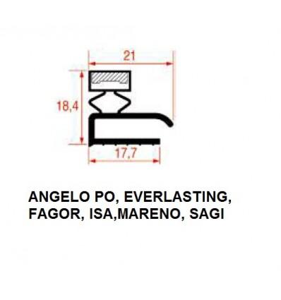 Gaskets for Refrigerators ANGELO PO, EVERLASTING, FAGOR, ISA, MARENO, SAGI