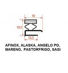 Guarnizioni per Frigoriferi AFINOX, ALASKA, ANGELO PO, MARENO, PASTORFRIGO, SAGI