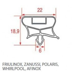 Guarnizioni per frigoriferi FRIULINOZ ZANUSSI POLARIS WHIRPOOL AFINOX