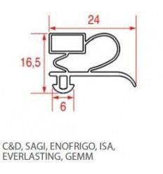Guarnizioni per frigoriferi C&D SAGI ENOFRIGO ISA EVERLASTING GEMM
