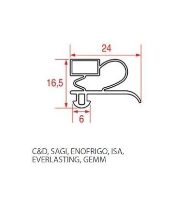 Gaskets for refrigerators C&D SAGI ENOFRIGO ISA EVERLASTING GEMM