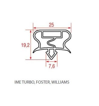 Guarnizioni per frigoriferi IME TURBO,FOSTER,WILLIAMS THIROIDE HMI