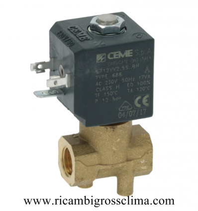 "6712VV2,5SBIF CEME электромагнитный Клапан CEME 2-Полосная ø 1/4""F"