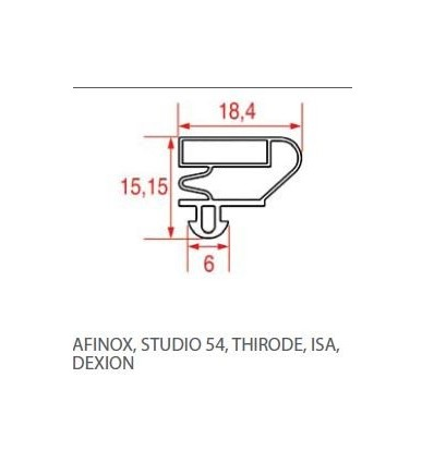 Gaskets for refrigerators AFINOX-STUDIO 54-THIRODE-.ISA-DEXION
