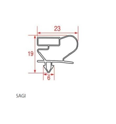 Уплотнения для холодильников SAGI ANGELO PO