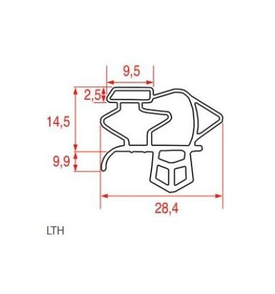 Gaskets for refrigerators LTH FRIGOVELL BONNET