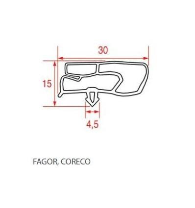 Gaskets for refrigerators Fagor Coreco