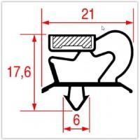 Guarnizione Ad Incastro Per Frigoriferi Profilo 1001 Zanussi Friulinox Whirlpool