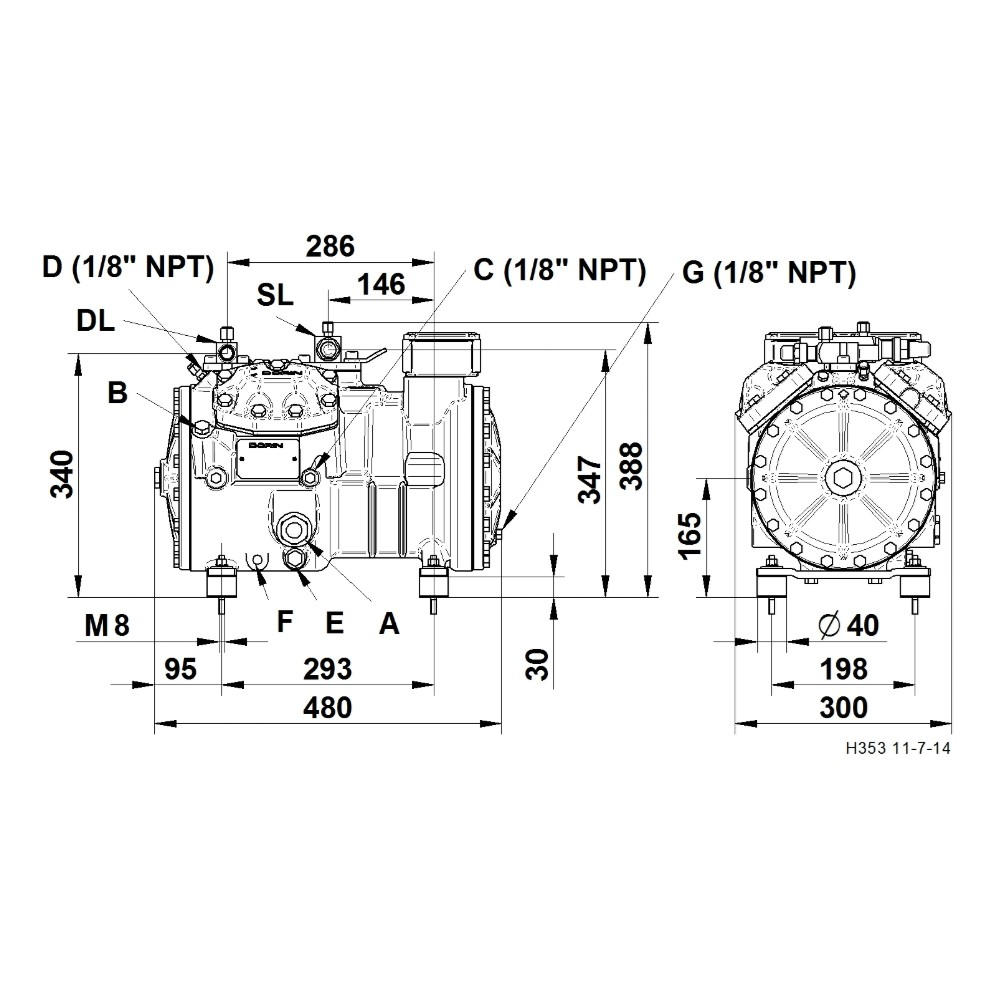 Semi Hermetic Compressor Dorin H1003cc Wiring Diagram